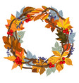leaves autumn wreath vector image vector image