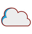 line color nice cloud nature weather icon vector image vector image