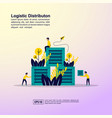 logistic distribution concept with character vector image