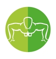 man silhouette exercising push ups front vector image