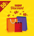 market sale bags to special discount vector image vector image