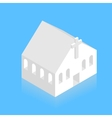 modern white isometric church on blue vector image vector image