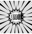 monochrome explosive concept vector image vector image