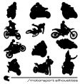Motorbike silhouettes vector | Price: 1 Credit (USD $1)