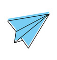 paper airplane isolated icon vector image