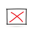 popular check list symbol x wrong mark isolated vector image