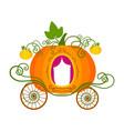 pumpkin carriage vector image