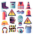 safety equipment personal protection for vector image