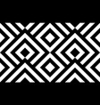 seamless pattern black and white diagonal lines vector image vector image