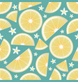 seamless pattern lemon slices and orange vector image vector image