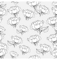 seamless pattern with roses on grey vector image