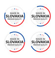 set four slovak icons made in slovakia vector image vector image