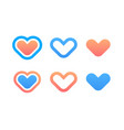 set of hearts icons vector image vector image