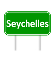 Seychelles road sign vector image vector image