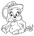 Sitting Mouse vector image vector image
