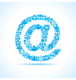 Social media icons make email sign stock vector image vector image