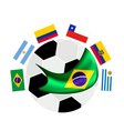 South America Qualification in A Brazil 2014 vector image