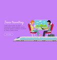 train travelling conceptual web banner railway vector image