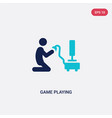 two color game playing icon from activity and vector image vector image