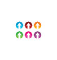 up arrow logo designs symbol modern finance logo vector image vector image