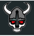 viking comic skull vector image vector image