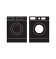 washing machine icon washing machine flat sign vector image