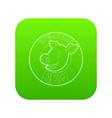 welcome invitation to barbecue icon green vector image