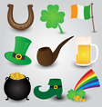 St Patricks Day Icons Collection vector image