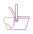 picnic basket icon in gradient color silhouette vector image