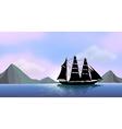 A ship sailing vector image vector image