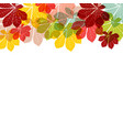 abstract autumn leaves on white background vector image vector image