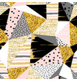 abstract geometric seamless with pattern gold vector image vector image