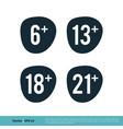age limit icon logo template design eps 10