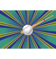 Baseball Bat and Ball3 vector image