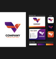 bird with initial v logo design inspiration vector image vector image