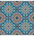 boho tile flower squares colorful blue vector image vector image
