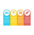 business infographics for presentation vector image vector image