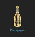 champagne bottle hand vector image vector image