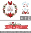ChristmasNew year greeting cardsbannersdecor vector image vector image