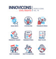 civil rights concept line design style icons set vector image vector image