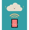 Cloud computing The concept of reception and vector image vector image