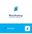 creative document setting logo design flat color vector image