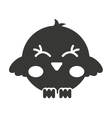 cute bird silhouette isolated icon design vector image vector image