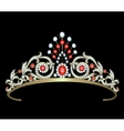 Diadem with diamonds vector image vector image