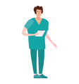 doctor in professional clothes character is vector image