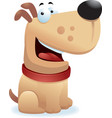 dog smiling vector image vector image