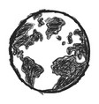 doodle earth vector image vector image