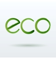 Eco Label With Shadow on White Background vector image vector image