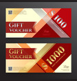 elegant gift voucher or gift card on colorful vector image vector image
