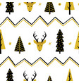 festive seamless background with christmas trees vector image
